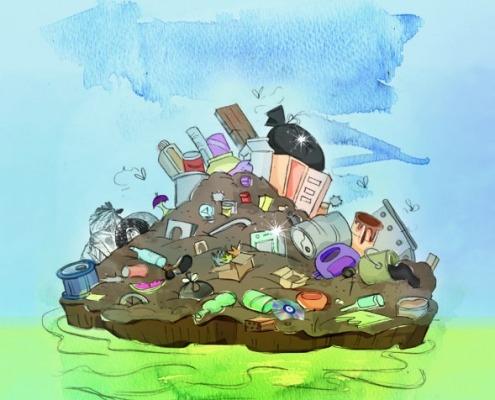 Το σκουπιδονήσι του ωκεανού
